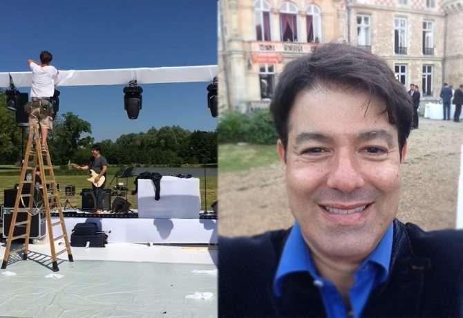 Foto de Casamento de filho de Betty Faria e Daniel Filho na França teve show do brasileiro Alex Cohen