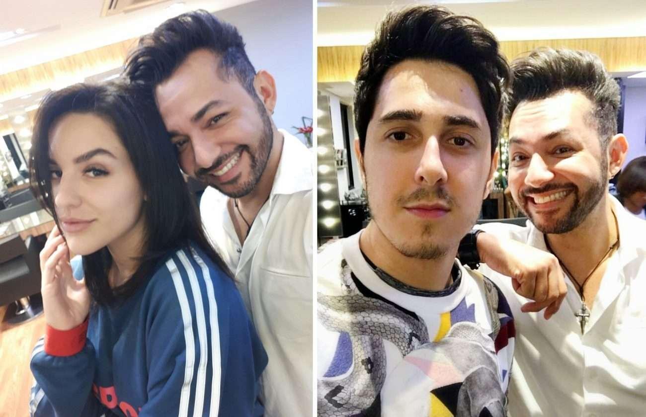 Foto de Hair Stylist Nandho Brandão cuida das madeixas dos Youtubers Kéfera e Felipe Castanhari