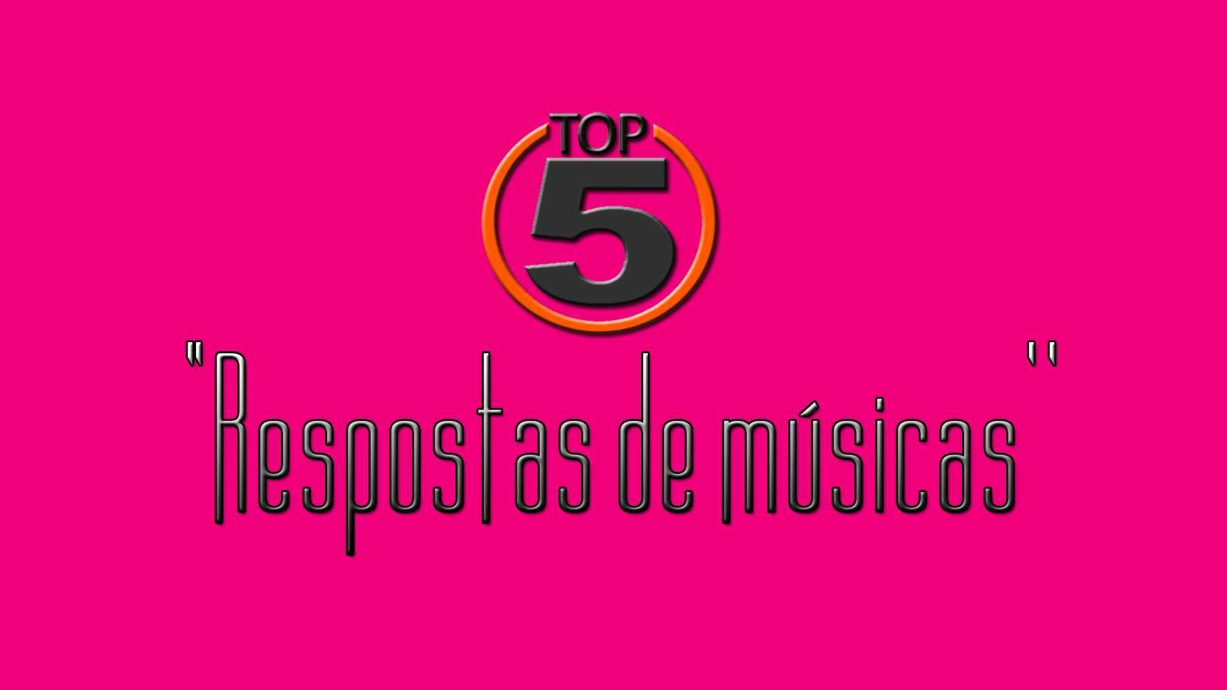 """Foto de Top 5! """"Respostas de músicas sertanejas"""""""