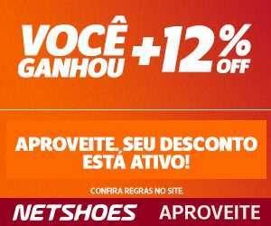 [Netshoes] 300×250 – Liquida Outlet 12% Off – DESK/TAB