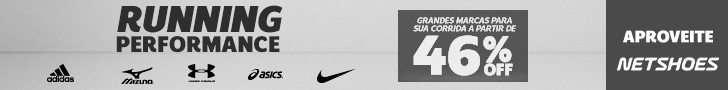[Netshoes] 728×90 – Running Performance 46% Off – DESK/TAB
