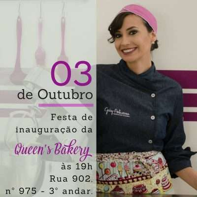 Convite Queens Bakery fotos Any Costa