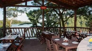 Foto de Mirante Restaurante combina sua especialidade em peixe com a natureza