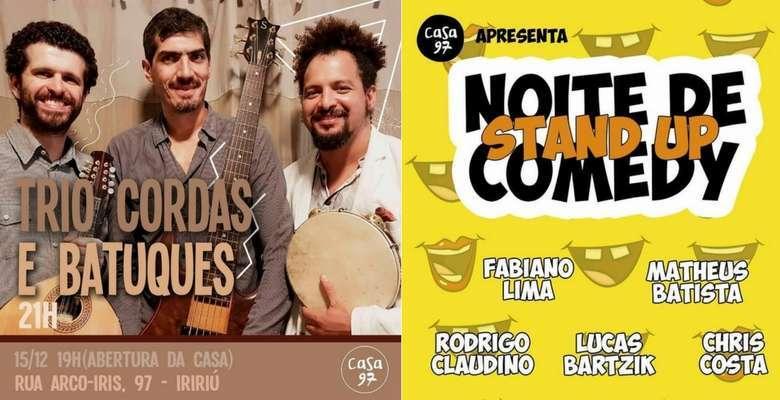 Cordas Batuques - Standup Comedy - Divulgação