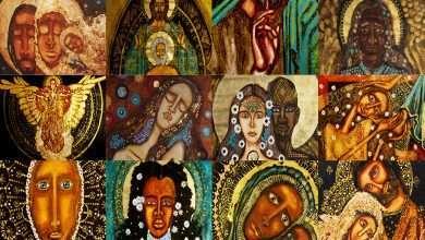 Foto de Natal iluminado com obras de arte Sagrado Primitivo