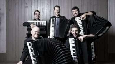Foto de Lançamento do CD-Livro do Quinteto Persch e Arthur de Faria