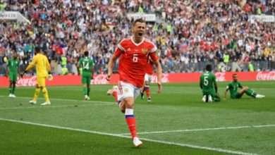 Foto de Rússia dá show de gols contra a Arábia Saudita na estreia da Copa do Mundo