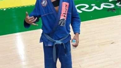 Foto de Lucas Lodi vice-campeão mundial de Jiujitsu se prepara para o Pan-Americano