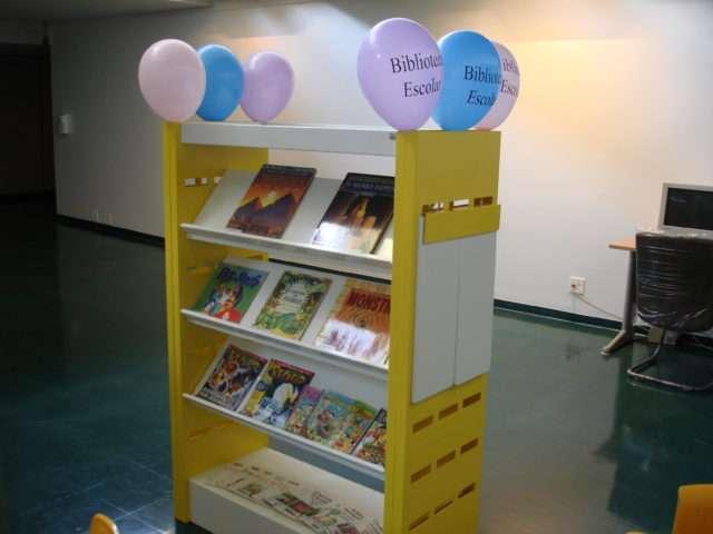 Biblioteca Escolar Modelo na Bienal Internacional do Livro. Foto divulgação.