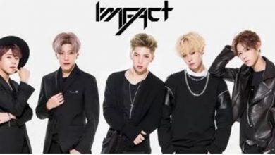 Foto de O grupo de K-Pop IMFACT se apresenta no programa A Tarde é Show