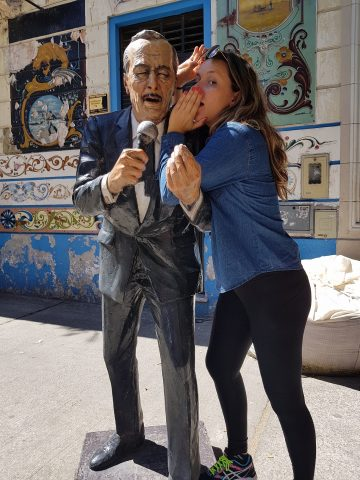 Letícia Tomazella visita Argentina . Foto divulgação.