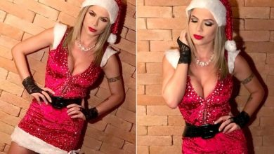 Foto de Vestida de Mamãe Noel, ex-BBB Cacau Colucci comenta como será sua noite de Natal