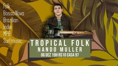 Foto de Tributo a Belchior, banda The Flowers e Tropical Folk com Nando Müller
