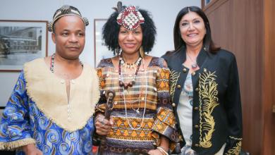 Foto de Brasil recebe a Rainha do Congo Diambi Kabatusuila