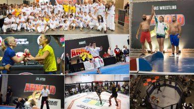 Foto de Schwarzenegger reúne 10 modalidades de lutas em São Paulo