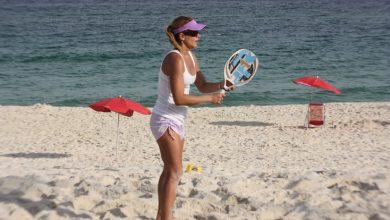 Foto de Fabiana Boal disputa mais um campeonato debeach tennis, no Rio