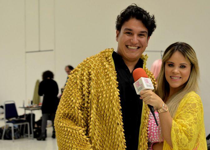 Samuel Aguiar e Apesentadora Viviane Alves