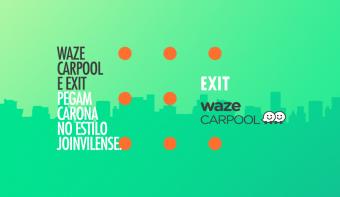 Waze Carpool e Exit apostam em expressões