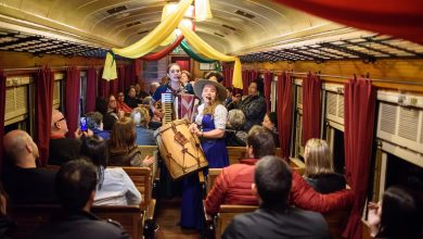 Foto de Noite e tradição gaúcha no trem do vinho