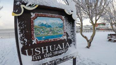Foto de Brasileiros em Ushuaia fazem a festa com muita neve na cidade mais austral do planeta