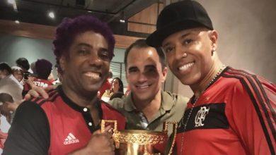 Foto de MC Koringa se une a ídolos da música e do Flamengo para gravar canção que comemora o mundial de 81