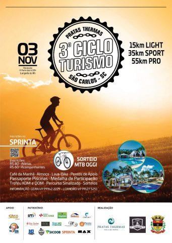 A terceira edição do Ciclo Turismo Pratas Thermas tem por objetivo divulgar o turismo da região e promover a integração entre os apaixonados pelo esporte