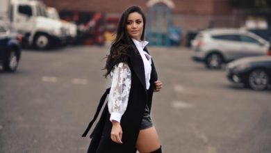 Foto de Stylist de NY Priscila Carreon prepara ensaio com tendências do outono para modelo Cleo Pillon