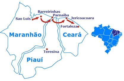 A Rota das Emoções, que engloba 14 cidades do Maranhão, Piauí e Ceará (que passará a receber o Brazil Travel Market), terá um plano de ação para seu desenvolvimento turístico