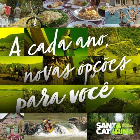 O Mapa do Turismo de Santa Catarina (SC) acaba de ser atualizado pela Agência de Desenvolvimento do Turismo de SC