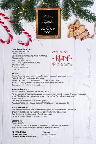 Ceia de Natal no Bistrô Estaleiro Guest House