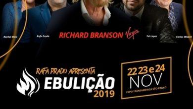 Foto de Ebulição 2019 com Richard Branson e Rafa Prado
