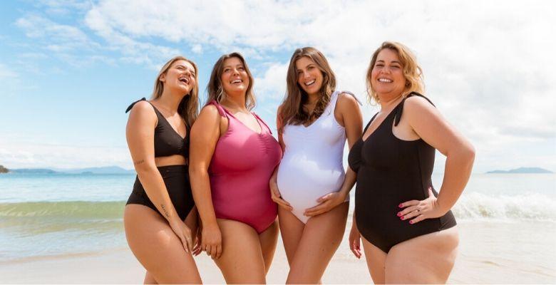 campanha, agora sou mãe, colecao, beachwear, mulheres, corpos, biquinis, maios,
