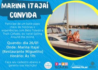 Famoso casal de velejadores faz palestra gratuita em Itajaí (SC)