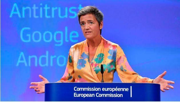 Margrethe Vestager na Comissão da União Europeia para concorrência