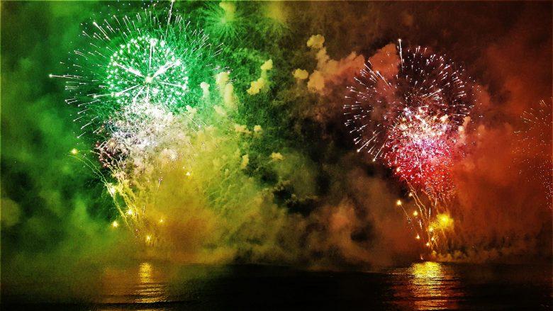 Estima-se em 1,150 milhão de turistas e pessoas que assistiram à celebração do réveillon