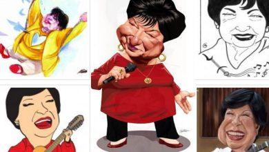 Foto de Exposição de caricaturas de Inezita Barroso