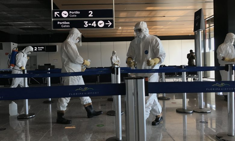 Foto de Exército e Floripa Airport realizam sanitização no aeroporto
