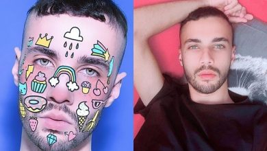 Foto de LGBT o designer das celebridades Allan Gregorio na luta preconceituosa
