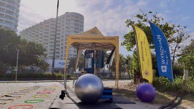 Foto de Ecoesporte promove atividades físicas na praia da Barra RJ