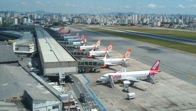 Foto de Empresa faz desinfecção no Aeroporto de São Paulo