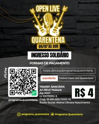 OMG pela ação da cidadania tem Live dos cantores Dani Coimbra e W