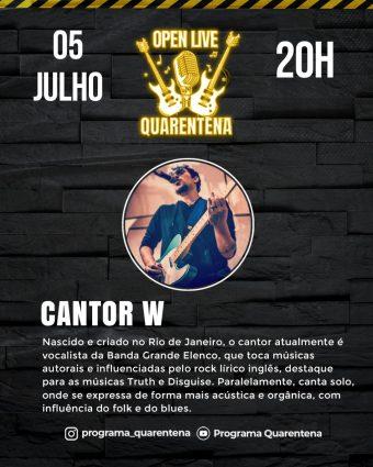 ONG pela ação da cidadania tem Live dos cantores Dani Coimbra e W