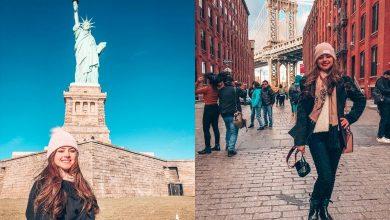 Foto de Influencer Digital Patrícia Noronha da dicas para viagem em NY