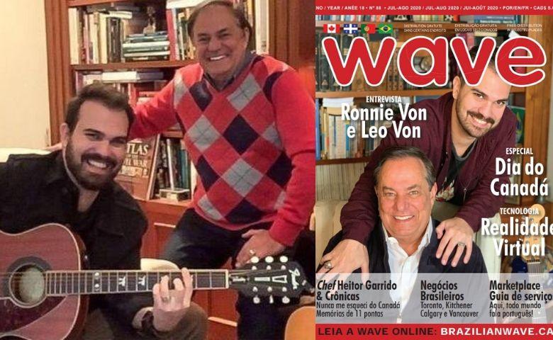 Ronnie e Leo Von são destaque em capa de revista