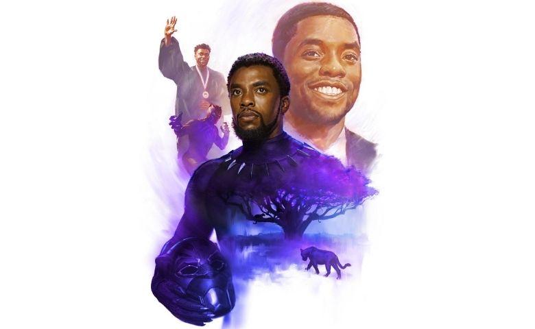 Homenagem a pós da morte do ator Chadwick Boseman