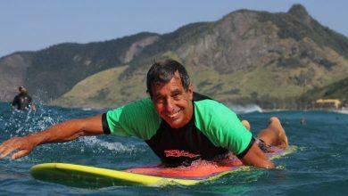 Foto de Rio Ecoesporte recebe Rico de Souza em treino de surf
