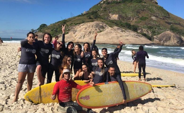 Rio Ecoesporte recebe Rico de Souza em treino de surf