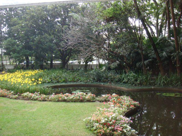 Jardim da Casa-Museu Ema Klabin projetado por Burle Marx. Foto:Acervo da Casa-Museu Ema Klabin