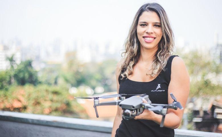 Raquel Molina é a primeira a ganhar prêmio com drones