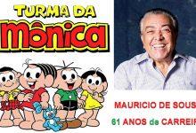 Foto de Mauricio de Sousa completa 85 anos.